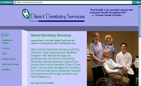 Direct Dentistry Services website